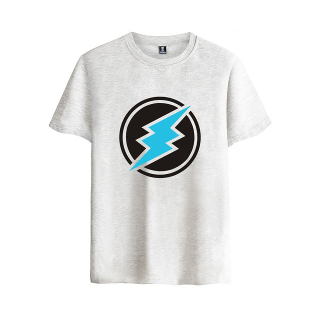 Electroneum Logo Print T-shirt Electroneum cryptocurrencies Cotton tee shirt Short Sleeve Sleeve Blockchain  Bitcoin clothes 1