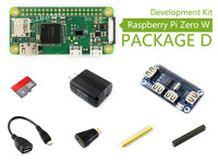 Raspberry Pi Zero W Package D Basic Development Kit Micro SD Card, Power Adapter, USB HUB, and Basic Components