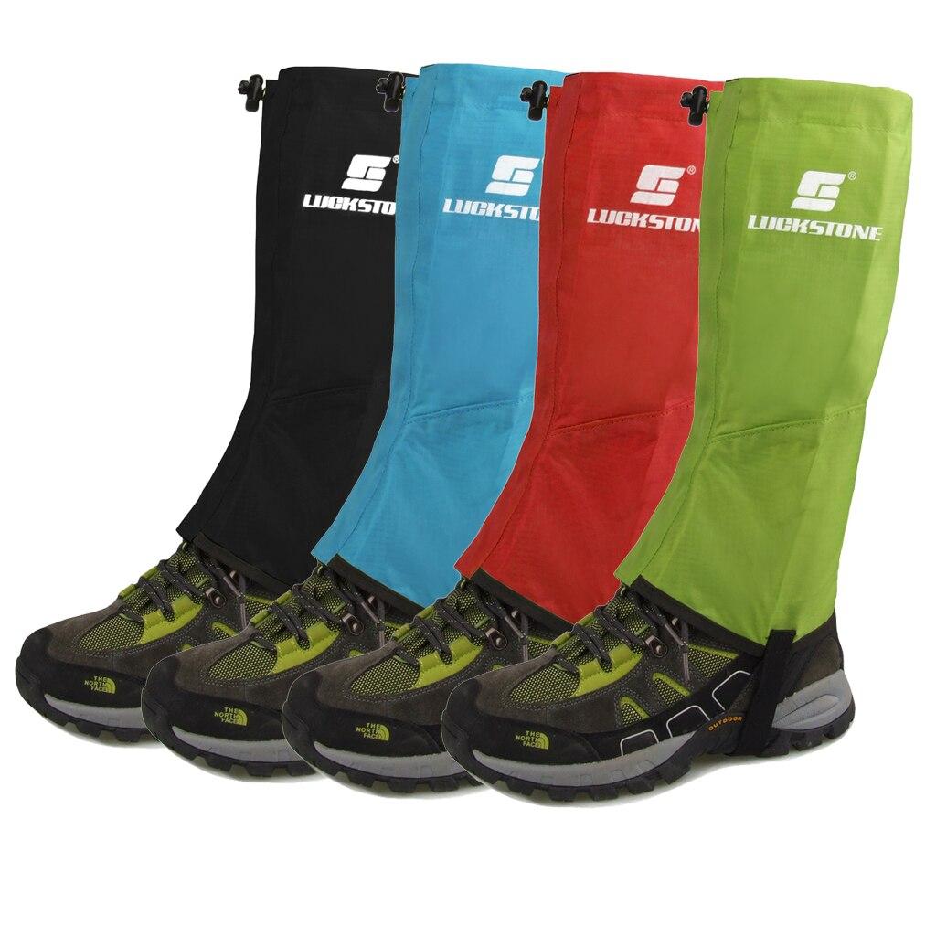 4 Colori 1 Paia Nero Impermeabile Escursionismo Arrampicata Neve Legging ghette Gamba Copre La Pelle Anti-Neve Fango Pioggia Large Size Viaggio kit
