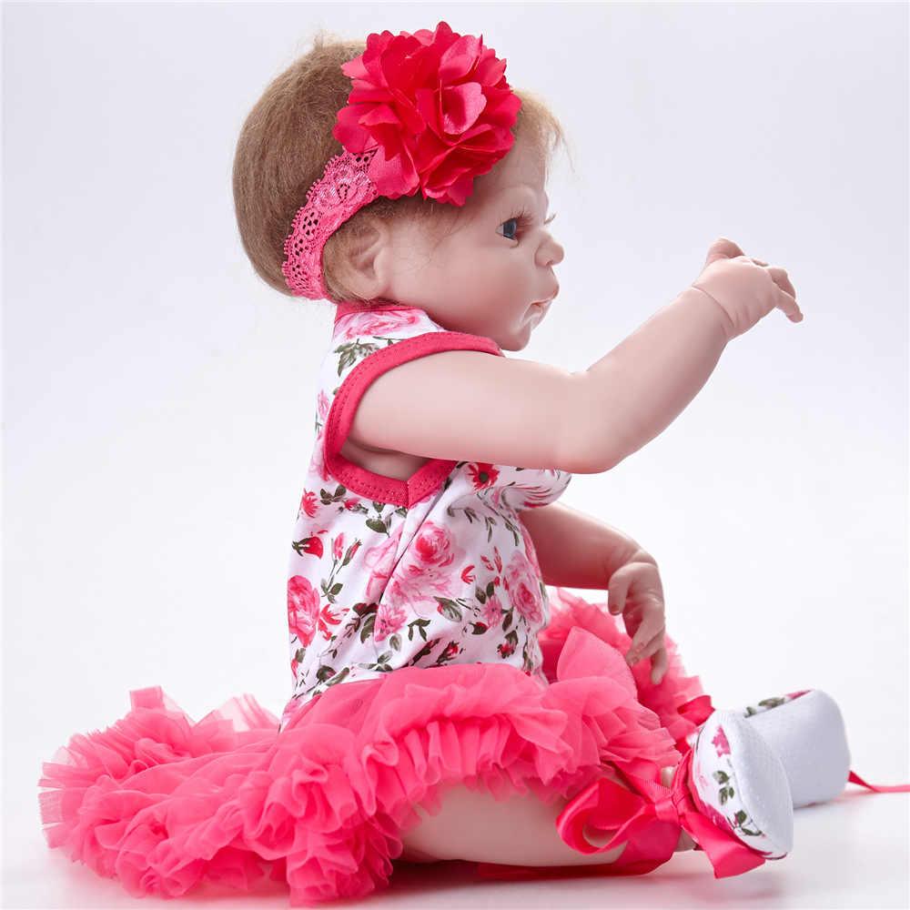 55 cm reborn de corpo inteiro silicone macio reborn realista recém-nascidos bebês bonecas para meninas brinquedos príncipe boneca