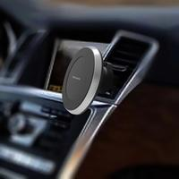 Alloet Qi Car Interior AC Vent Mount Wireless Charging Stand 180 Degree Rotary Charger For IPhone