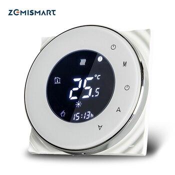 Zemimart chaudière chauffe-eau par le sol Thermostat d'ambiance Wifi APP contrôlé Alexa Google maison commande vocale