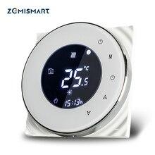 Zemismart caldeira aquecedor de piso de água sala termostato wifi app controlado alexa google home controle de voz