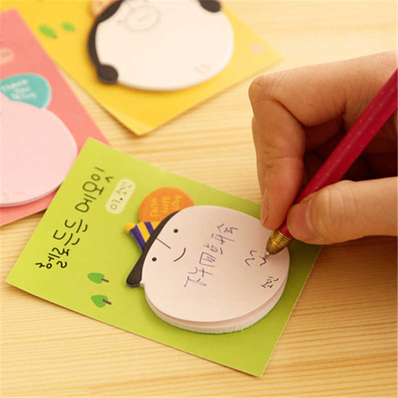 DL BF07 Coreano testa cartone animato immagine convenienza adesivo sticker N note book Cancelleria per ufficio forniture di apprendimento ufficio postale
