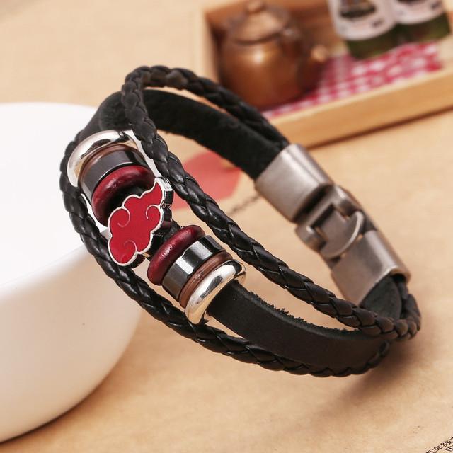 Akatsuki Hand Woven Handmade Genuine Leather Braclet