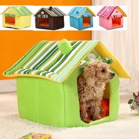 Pets Dog House Dog Bed Removable Pet Bed for Dogs Waterproof Pet House Bed Cover Mat House for Small Dogs TU