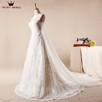A Line Lace Tulle Bridal Elegant Long Formal Romantic Wedding Dresses 2018 Real Photo Wedding Gown