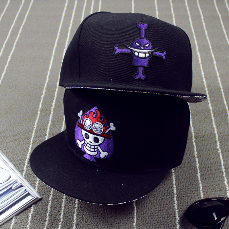 Prix pour Unisexe One Piece Cartoon Coton Noir Casquette de baseball Running Man Sport Butin Snapback Hiphop Chapeau