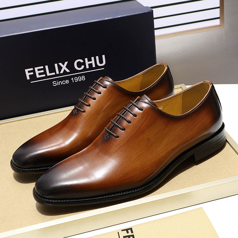 Luxury Brand Designer Genuine Leather Mens Wholecut Oxford Shoes For Men Black Brown Dress Shoes Business