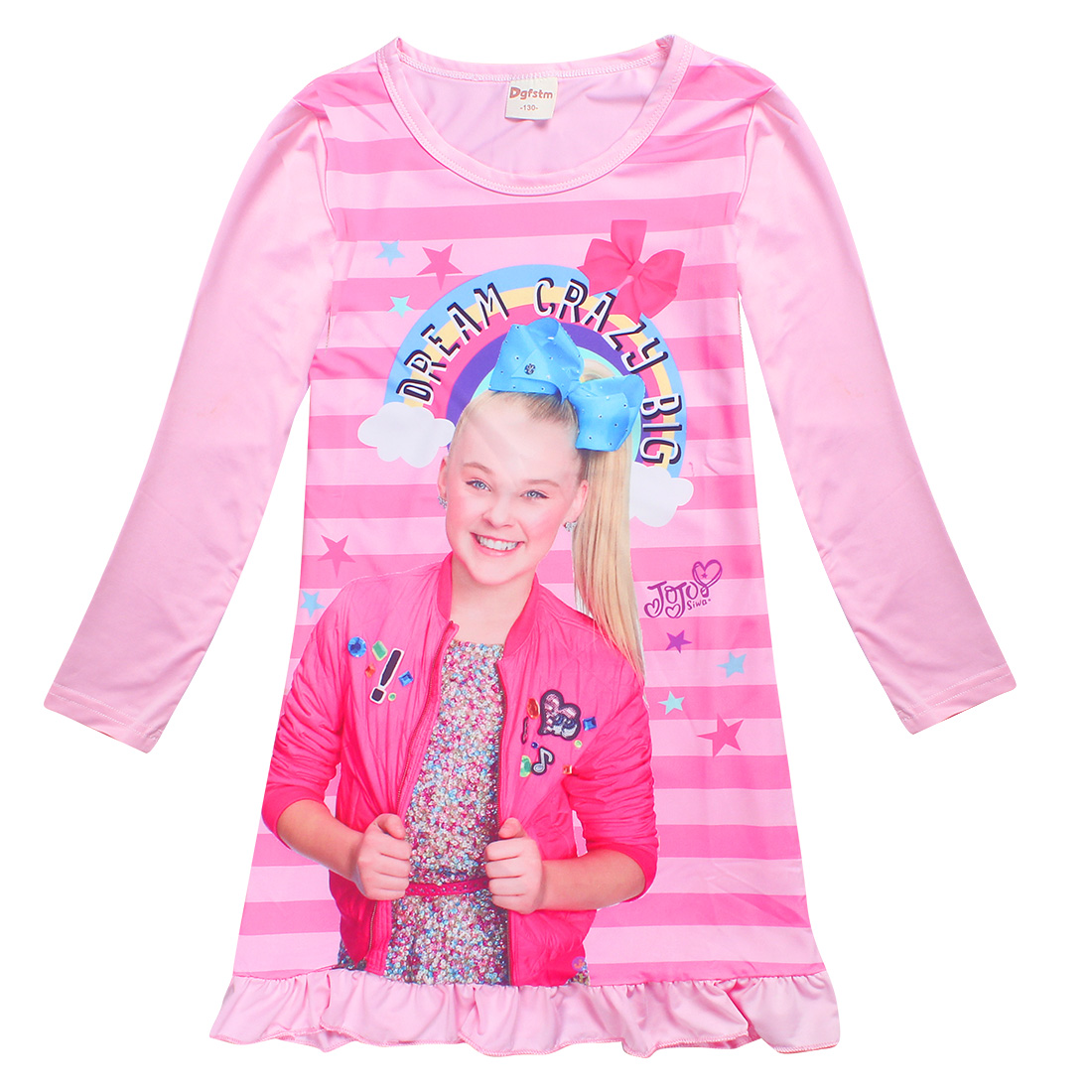 Detail Feedback Questions About 2018 NEW JOJO SIWA Teens Dresses For Girls Children Clothing Silk Dress Princess Birthday Party Costume Toddler Unicorn