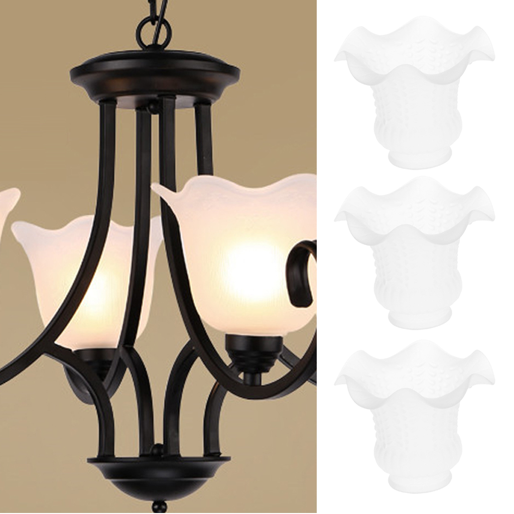 3pcs E27 Modern Replacement Glass Shades For Wall Lights And Ceiling Fan Lights Home Decor Lamp Covers Shades Aliexpress