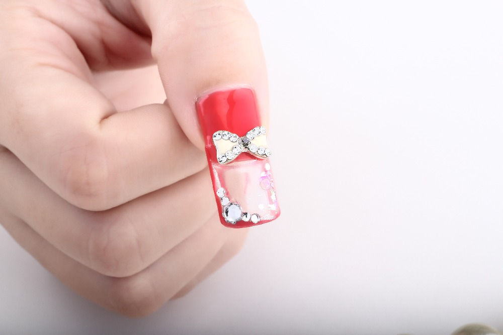 Fresh nail art 3D Manicure Nails Art French Acrylic Aquarium Liquid ...