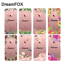DIY Name Custom Case Cover For iPhone 11 Pro XS XR Max 4 4s 5 5s SE 5c 6 6s 7 8 Plus X Personalized Soft Silicone TPU цена и фото