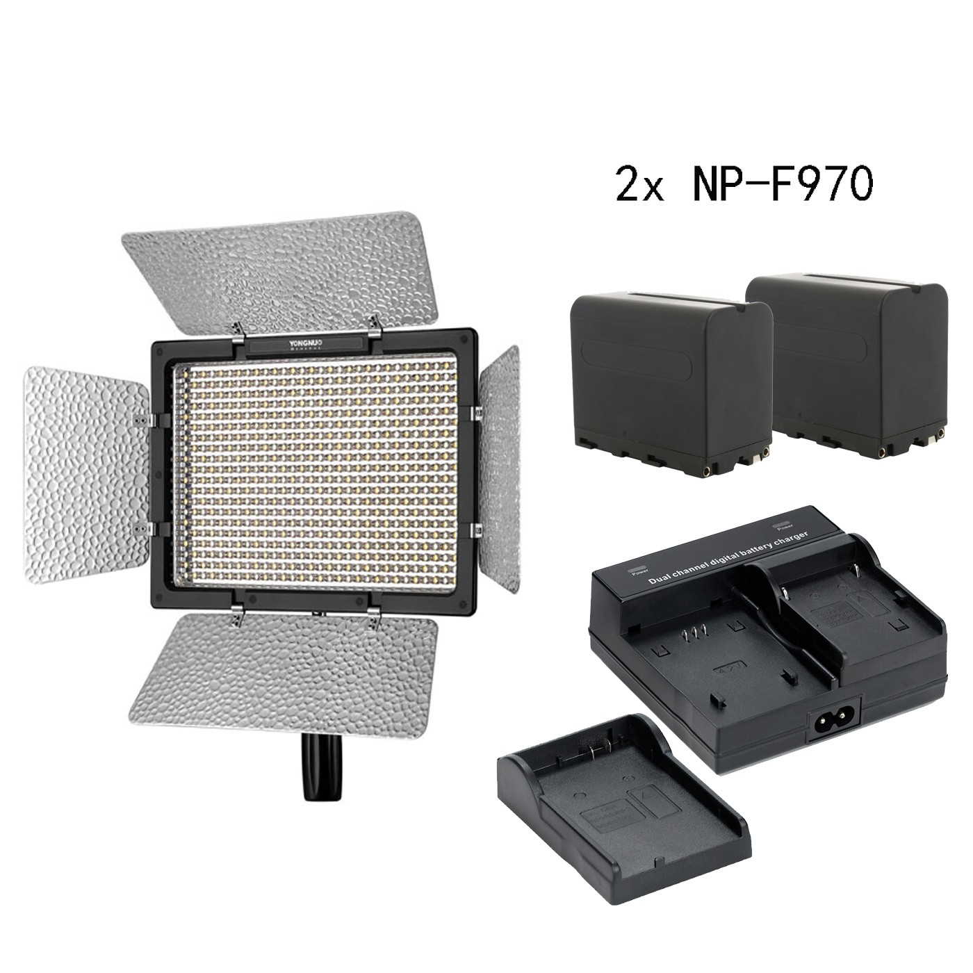 <font><b>YONGNUO</b></font> YN600L II <font><b>YN</b></font> <font><b>600</b></font> II CRI 95 Panel LED Video Light Remote control & 2* NP-F970 battery & charger image