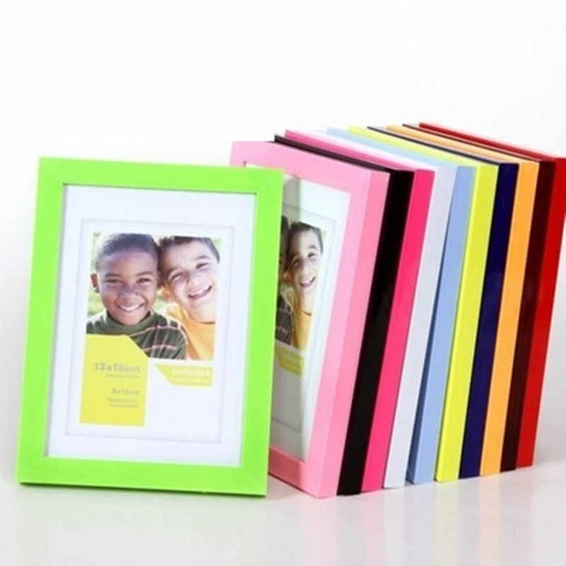 2019 Frame Acrylic Plexiglass Wood Card Backplane Stand Table Display Photo Quadro Decoration TV Wall Photo Frame New Arrival
