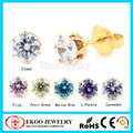 New Arrival Disposable Gold Plated Ear Piercing Gun CZ Stone Earrings Lot of 24pcs
