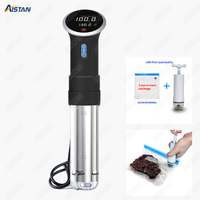 CS1 Sous Vide Precision Cooker, Vacuum Food Cooking Machine, Immersion Circulator Slow Cooker 1000 Watts S.steel Black