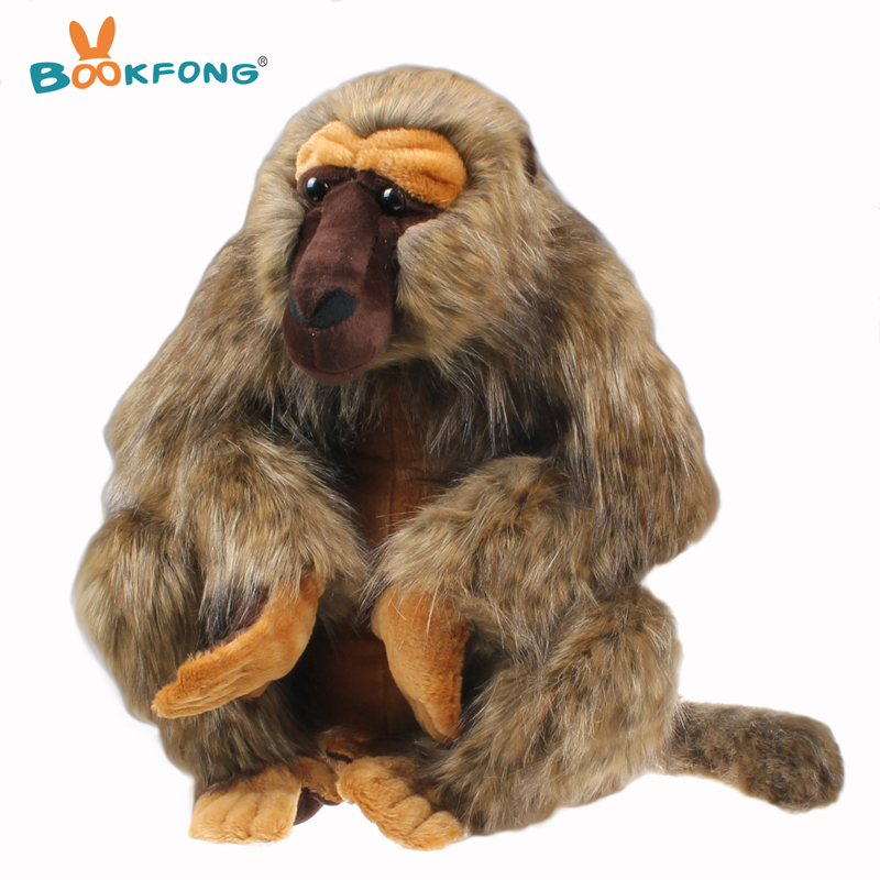BOOKFONG 50cm Giant Baboon Plush Toy Simulation Animal Orangutan Baboons Stuffed Toy Kids Gift bookfong 1pc 35cm simulation horse plush toy stuffed animal horse doll prop toys great gift for children