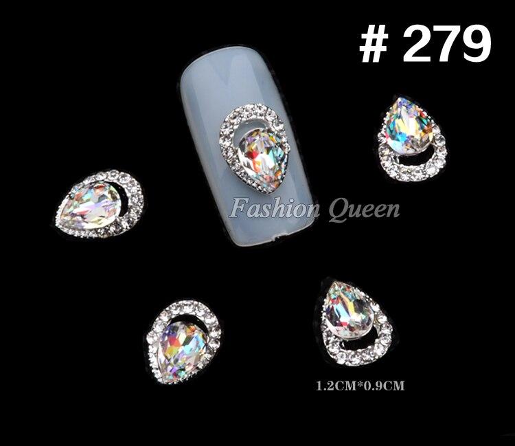 5 stks Nieuwe Topkwaliteit Glitter Rhinestone Luxe 3d Legering Nail - Nagel kunst - Foto 5