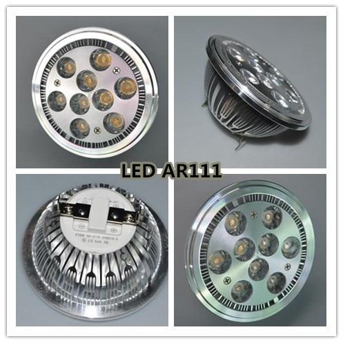 Free Shipping AR111 5W Led 1*1W 7W 9w G53 Lamp G53 LED 110-240V DC12V Downlight Ar111 Led Bulb Ar111 Led Spotlight GU10
