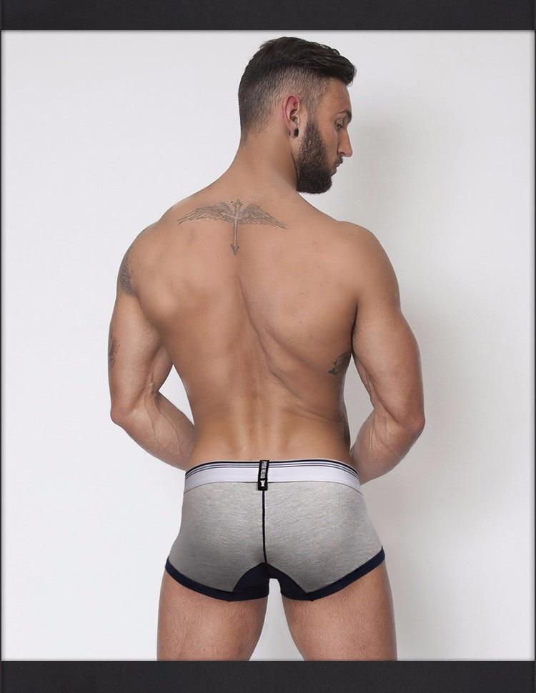 Topdudes.com - Men's New Fashion Sexy Low Waist Printed Cotton Flat Foot Underwear