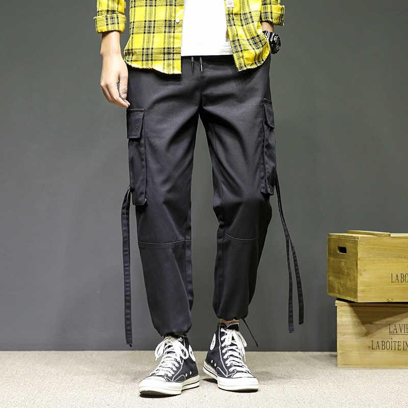 特大 M-5XL ストリート男性原宿パンツ Pantalones Hombre カジュアル貨物パンツジョギングファッション服夏 Modis