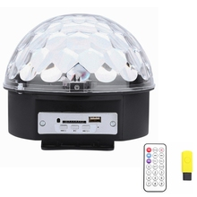 LED Disco ball lamp Magic Crystal Ball light show with MP3 player Remote Control for dance floor home party KTV DJ Xmas decor