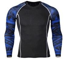 Спортивная быстросохнущая одежда мужская футболка для бега эластичная тренировочная компрессионная одежда Цветочная рука