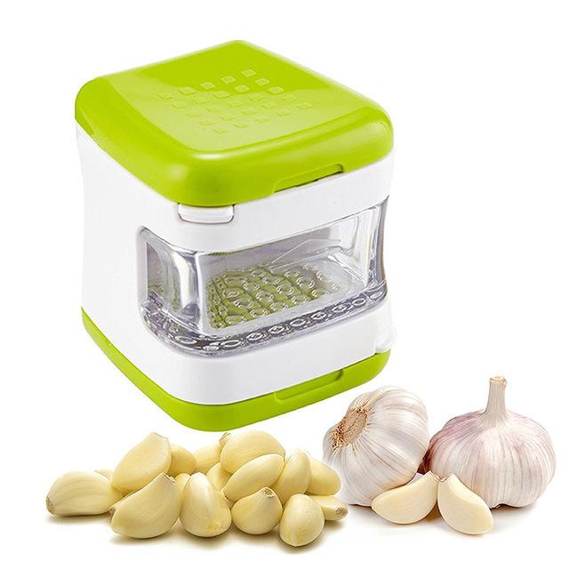 1 piece garlic press  with stainless steel blades