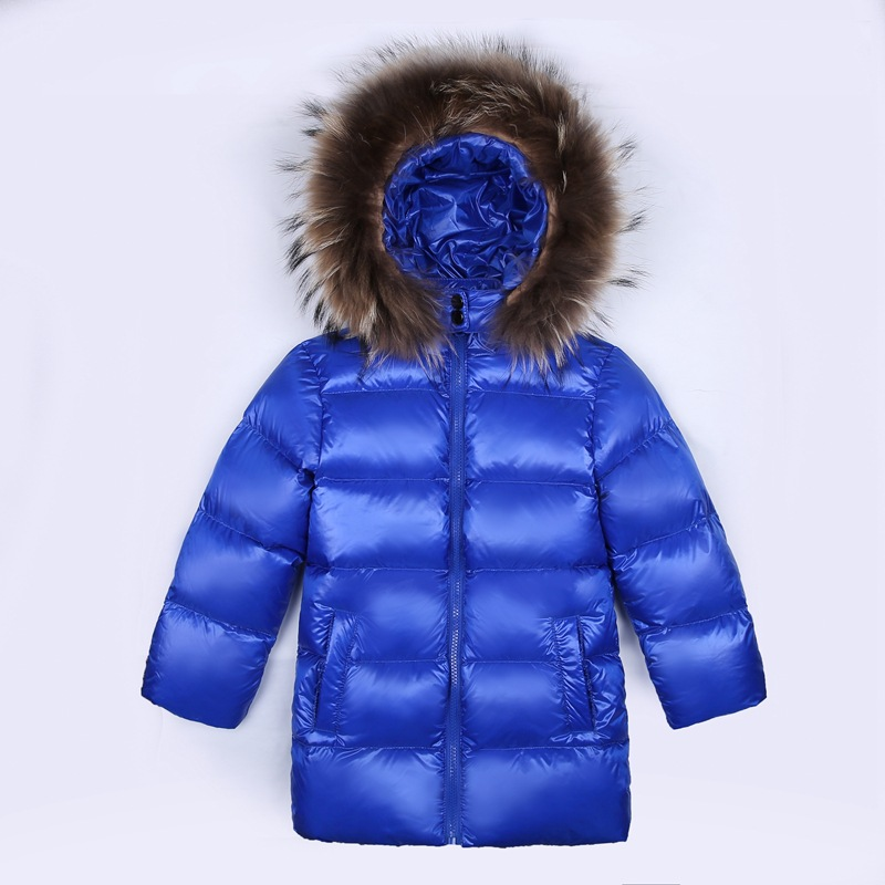 Kids Winter Coat Down Jacket Toddler Boys Jackets Thick Clothes Fur Hooded Girls Outwear Coat Parka Long Chindren Snow Wear JL33 2018 winter jacket male coat warm duck down zipper ski jacket outwear middle long parka with fur hooded thick 4 colors jackets