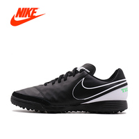 Original New Arrival Official NIKE TIEMPO GENIOII TF Men S Waterproof Soccer Shoes Sports Sneakers