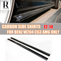 W204 C63 Carbon Fiber Side Skirt for Mercedes Benz W204 C63 AMG 2012 2013 2014 Auto Racing Car Side Bumper Skirts Bodykit