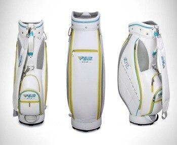 Sacca Da Golf In Pelle | 2018 Nuovo Golf Rack Sacchetto Di Cuoio DELL'UNITÀ Di Elaborazione Di 5 Fori Ultra-leggero Golf Clubs Del Basamento Del Sacchetto Con Il Pattino Reticolo Multi- Di Stile Per Le Donne