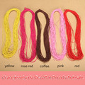 15m/roll 0.8mm Elastic Cotton Covered Thread Latex Rubber Cord String Knitted Beads Crystal Line Diy Bracelet Jewelry Materials