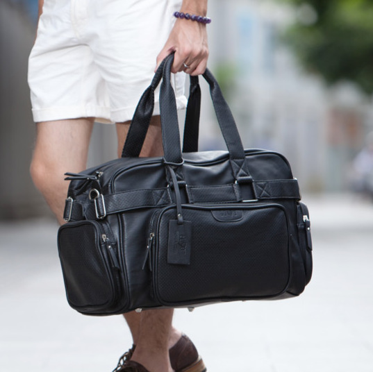 ETONWEAG Brands Cow Leather Duffle Bag Black Zipper Fashion Men Travel Bags Big Capacity Shoulder Bags Vintage Organizer Luggage 4