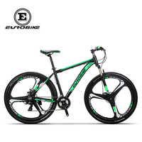 EUROBIKE Mountainbike 21 Geschwindigkeit 3-speichen-röhrencarbonfahrrad-rad 29 Zoll Räder Doppelscheibenbremse Aluminium Rahmen MTB Fahrrad
