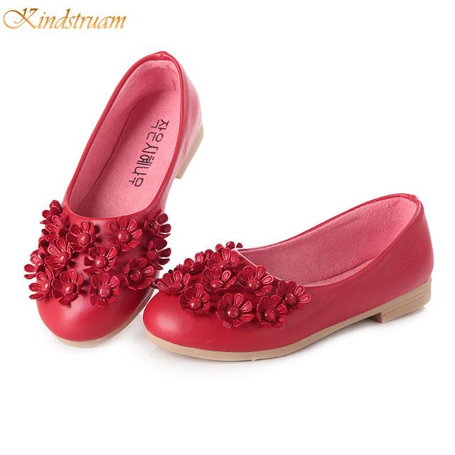 2017 new arrival meninas flores shoes crianças de alta qualidade de couro fundo de borracha shoes princesa confortável desgaste para as crianças, rj383