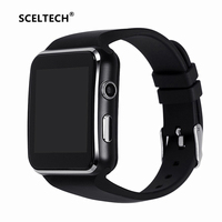 SCELTECH E6 Smart Watch Digital Wrist With Men Bluetooth Electronics SIM Card Sport Smartwatch Camera For