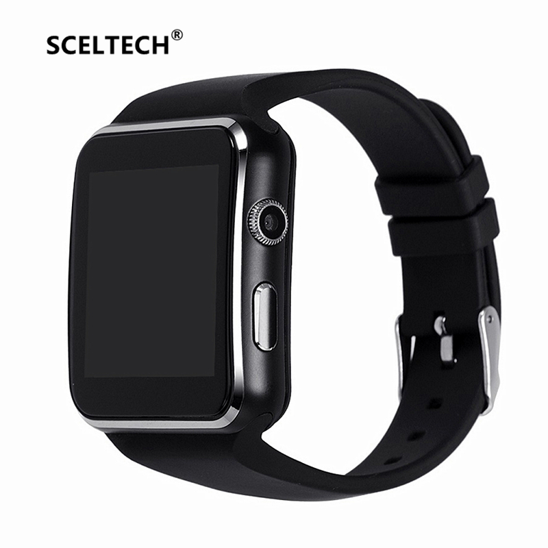 Sceltech E6 Smart Watch digital muñeca con hombres electrónica Bluetooth tarjeta SIM Sport smartwatch cámara para iphone android teléfono
