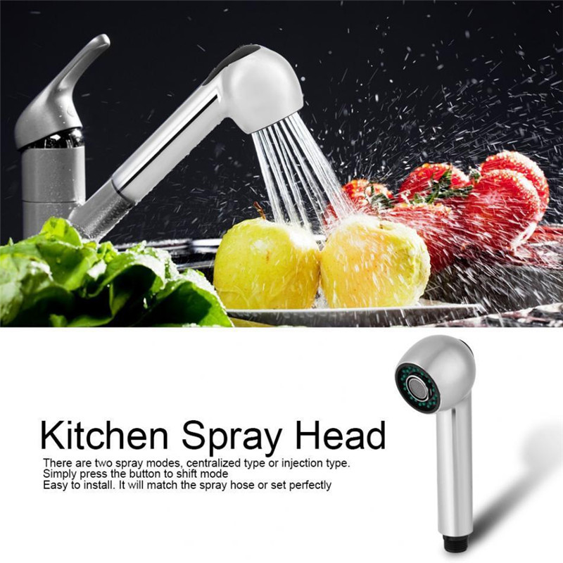 17mm Bathroom Kitchen Mixer Tap Spare Replacement Faucet Pull Out Spray Shower Head Setting Standard Hose Connection Showerhead