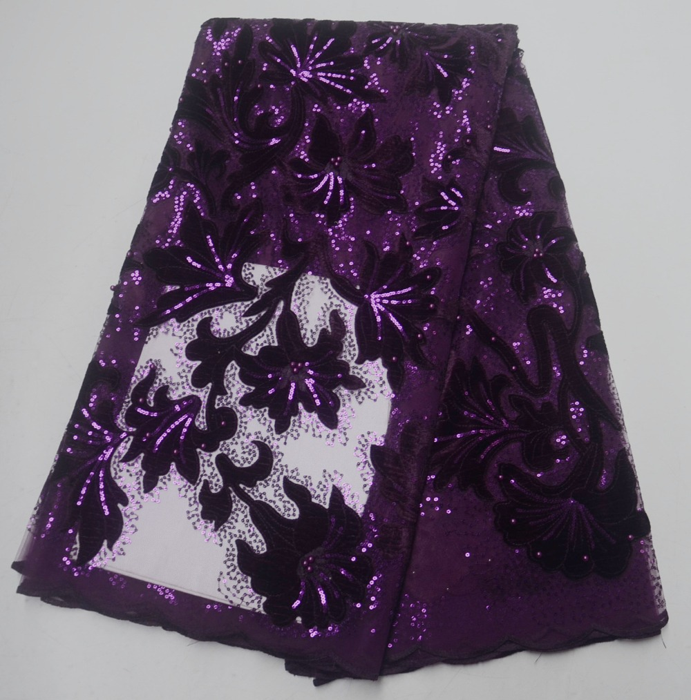 Wholesale velvet nigerian lace fabric hot selling embroidery lace beautiful flower african velvet lace fabric for partyWholesale velvet nigerian lace fabric hot selling embroidery lace beautiful flower african velvet lace fabric for party