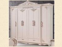 Шесть купе античный белый Европейский весь гардероб французский сельских мебель 02