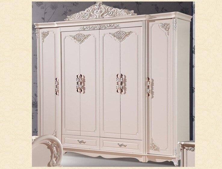 Armoire à six portes Antique blanc européen armoire entière meubles ruraux français 02