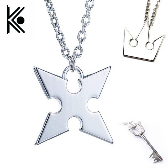 Anime Kingdom Hearts Cosplay Vòng Cổ Vương Miện Mặt Dây Chuyền Key blade Necklace hot Bán Mạ Bạc Trang Sức kẽm hợp kim trang sức