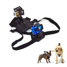 цена на For GoPro Accessories Adjustable Dog Fetch Harness Chest Strap Belt Mount For GoPro Hero 4/3+/3/2/SJ4000/ SJ5000 Action Sport