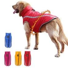 Купить с кэшбэком Big Dog Clothes Winter Pet Coat Jacket Waterproof Pets Dog Clothing For Dog Vest For Medium Large Dogs Bulldog Ropa Perro XL-6XL
