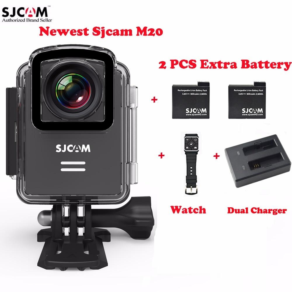 Original sjcam m20 wifi helmet 30m waterproof sports action camera sj cam dv 2 extra battery