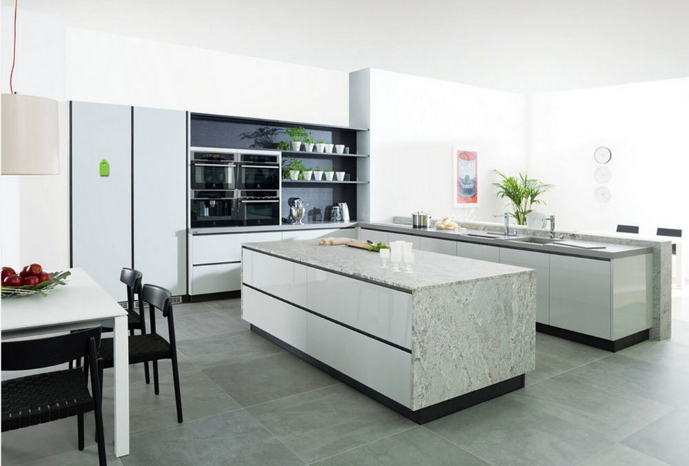 2017 customized kitchen cabinets hot sales modern high gloss white lacquer kitchen furnitures l1606017 - Customized Kitchen Cabinets