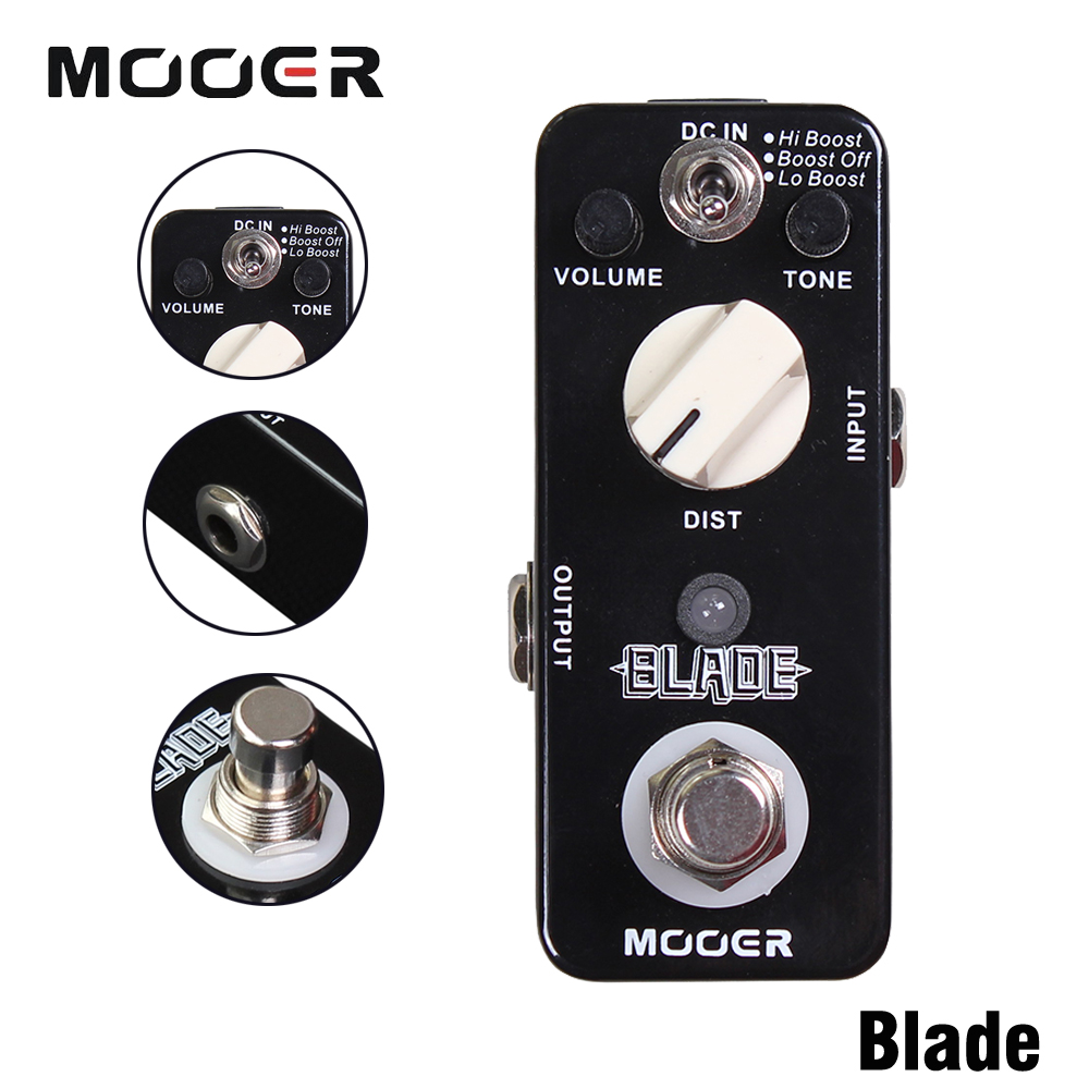 Mooer Blade Heavy Metals Distortion Guitar Effect Pedal With Lo Boost/Boost Off/Hi Boost 3 Working Modes True Bypass diy booster boost clean guitar effect pedal boost true bypass booster kits fp