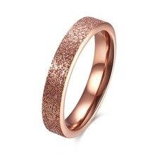 Модные Титан Сталь розового золота кольцо Forwomen пара Кольца против аллергии Обручение кольцо обручальное Кольца Ангел masculino ri102577